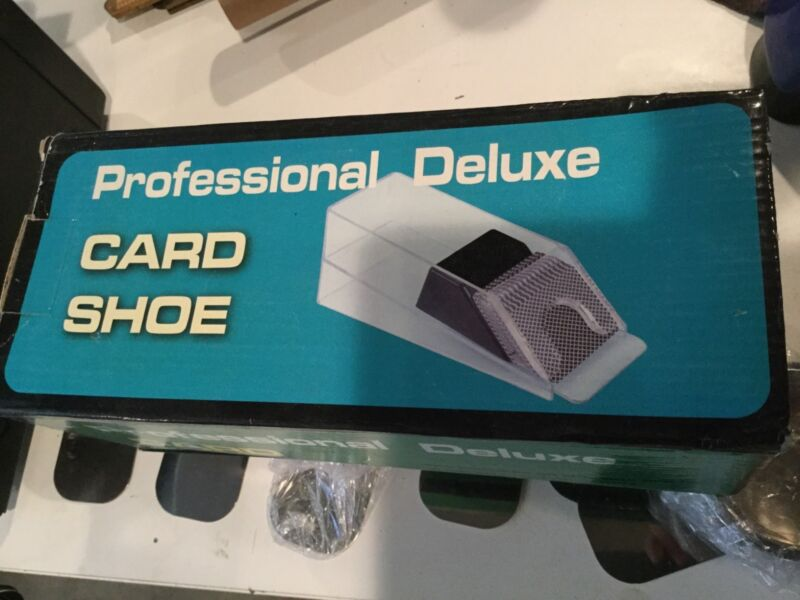 Professional Deluxe Card Shoe 4 DECK ... BRAND NEW with 6 Drink holders