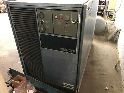 Ga37 Atlas Copco 50 Hp Rotary Screw Air Compressor