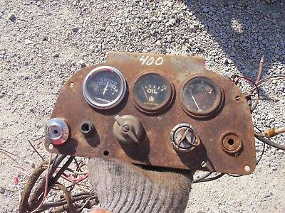 Farmall 400 450 Gas Tractor Original Ih Ihc Dash Panel Gauges Switch