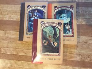 3 Series of Unfortunate Events Books by Lemony Snickets