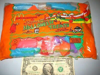 1994 McDonalds Happy Meal Halloween Treats 24 Musical Instruments NEW IN BAG - Happy Halloween Music Instrumental