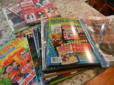 17 NON SPORT UPDATE magazines LOT Garbage Pail Kids MARVEL Batman TRANSFORMERS