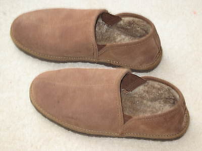 Lodge Mens' Suede Slippers Size 9