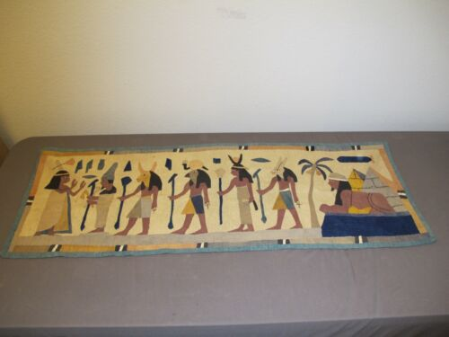 Antique Egyptian Egypt Hand Applique Textile Tapestry