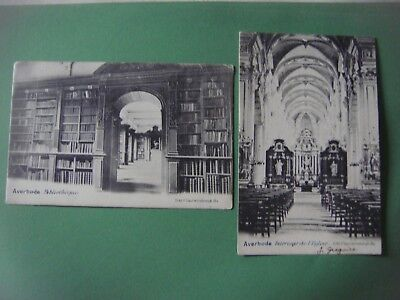 Lot de 2 cartes d' AVERBODE ( Montaigu Zichem / Scherpenheuvel Zichem )