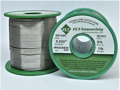 Sn100c Nc601 Lead Free Wire Solder - No Clean .032 Dia. 1 Lb.