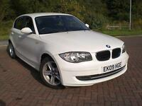 BMW 116 2.0 SPORT AUTOMATIC 2009 09 REG WHITE 55,000 MLS