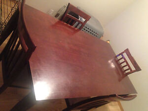 Large dinning table with chairs