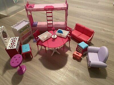 barbie doll house furniture lot