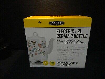 NEW - Bella Electric Kettle 1.2L Butterfly Meadow Ceramic Kettle - FREE SHIP