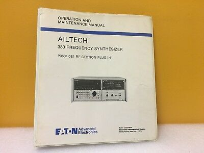 Eaton Ailtech 380 Frequency Synthesizer P3604.0e1 Rf Section Plug-in Manual