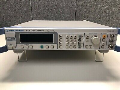 Rohde Schwarz Sml01 Signal Generator 9 Khz - 1.1 Ghz W Sml-b5 Option