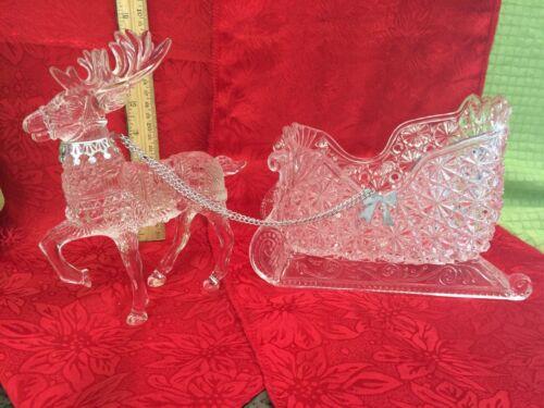 Vintage Acrylic Reindeer and Sleigh