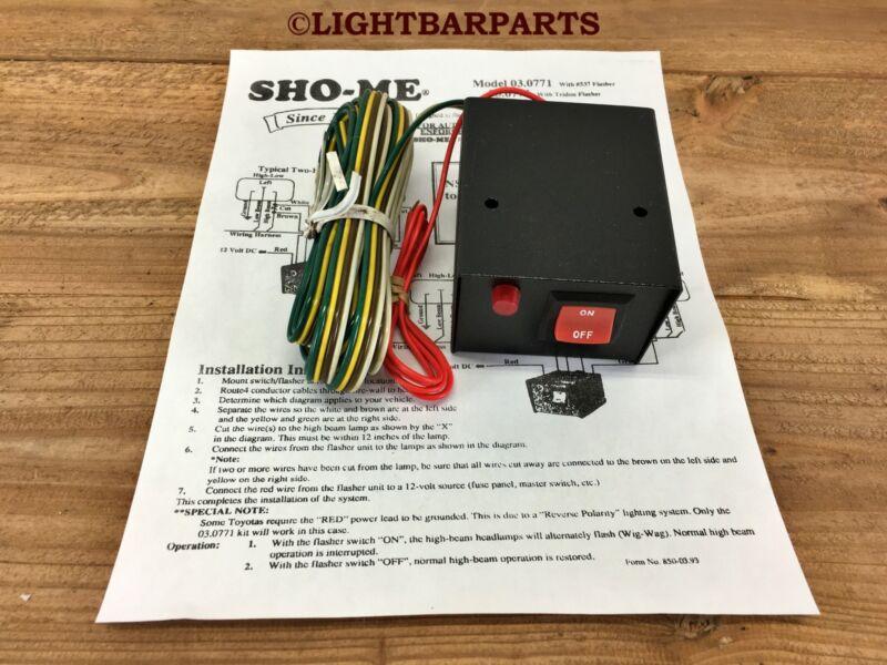 New Vintage SHO-ME WIG-WAG Emergency Headlight Flasher Kit 03.0771