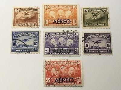 old stamps  ECUADOR    x  7 air post