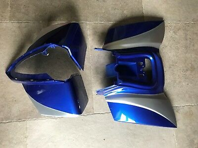 SMALL FRONT AND REAR PLASTIC FAIRING FOR SMALL 50CC QUADS BLUE *CRACKED* for sale  Clitheroe