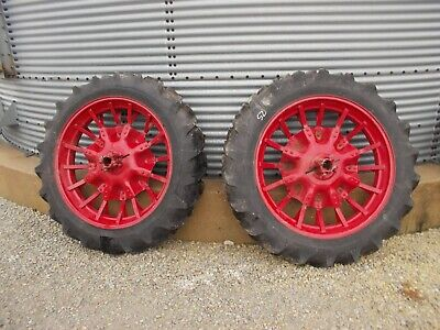 Mccormick Deering Farmall Ih F12 F14 H Tractor 11.2 X 38 Armstrong Tires Rims