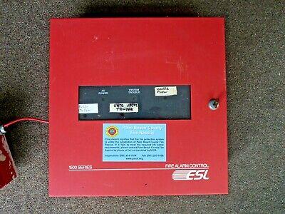 Esl 1500 Series Fire Alarm Control Panel 66014158 Rev C