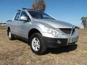 2007 Ssangyong Actyon Tradie  4x4 Turbo Diesel Dualcab Ute Inverell Inverell Area Preview