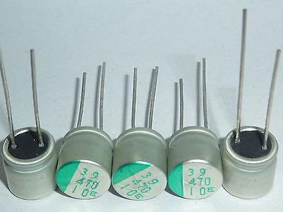 20pcs Sanyo Capacitor 10v470uf 10v Mb 10x9mm Motherboard Pc Repair