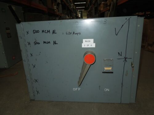 Fpe Qmqb7036 600a 3p 600v Single Fusible Switch Unit Used