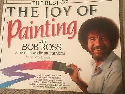 "BOB ROSS, A SPECIAL BOOK TITLED ""BEST OF JOY OF PAINTING""  60  color Paintings"