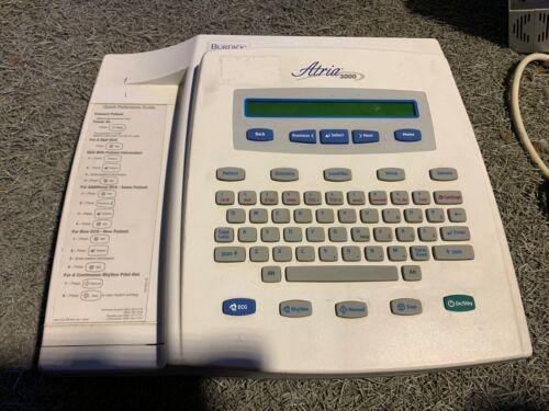 Burdick Atria 3000 ECG Backlit LCD Multi-Channel ECG Recorder