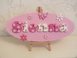 Personalised Large Childrens Girls/ Boys Wooden Door Plaque name plate