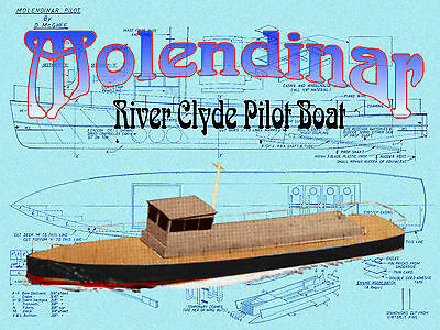 Build model 4 R/c River Clyde pilot boat full size Printed PLANS & Build notes