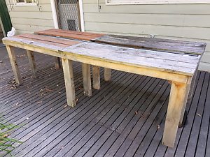 Timber outdoor table Blackburn Whitehorse Area Preview