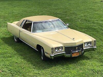 1971 Cadillac eldorado, Casablanca Yellow, Mint Condition, 50K miles, 500 ci