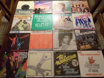 "Lot de 46 Disques / Vinyles - 7"" - 45 tours Anglais - English - 3 photos - (40)"