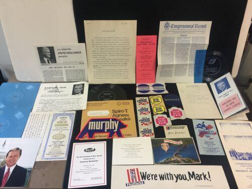 VINTAGE 1964-1990 ASSORTED LOT OF POLITICAL MEMORABILIA
