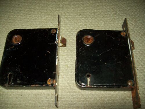 2 vintage  cast iron Yale  mortise door locks