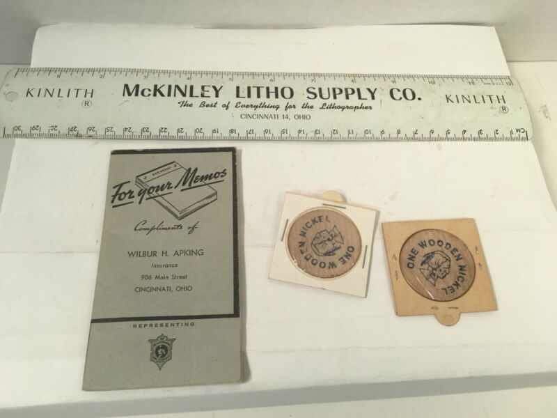 OHIO Advertising Pieces McKinley Litho, Apking Ins. more Vintage Collectible