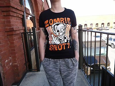 ZOMBIE SNOTT New Black T-shirt! Radioactive Hair Color Last Long After You (Radioactive Dye)
