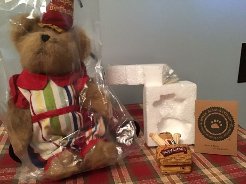 "Longaberger and Boyds Bears ""Happy Birthday"" Gift Set - *NEW*"
