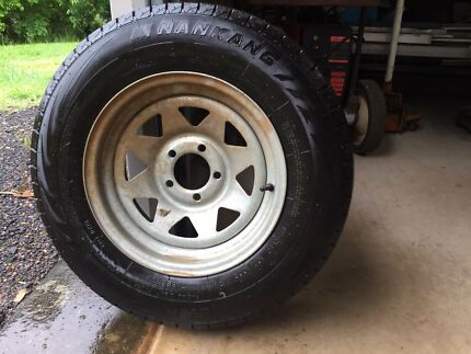 Never used- Boat trailer tyre and rim 14inch