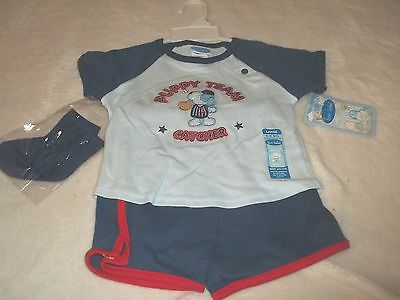 NWT BON BEBE OUTFIT INFANT BOYS 6/9 MO'S - CATCHER - PUPPY