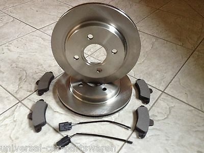 FORD MONDEO MK 2 ALL CARS93 00TWO REAR BRAKE DISCS AND A SET OF FOUR PADS SET