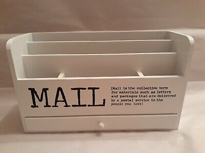 Mail Organizer Box With Drawer