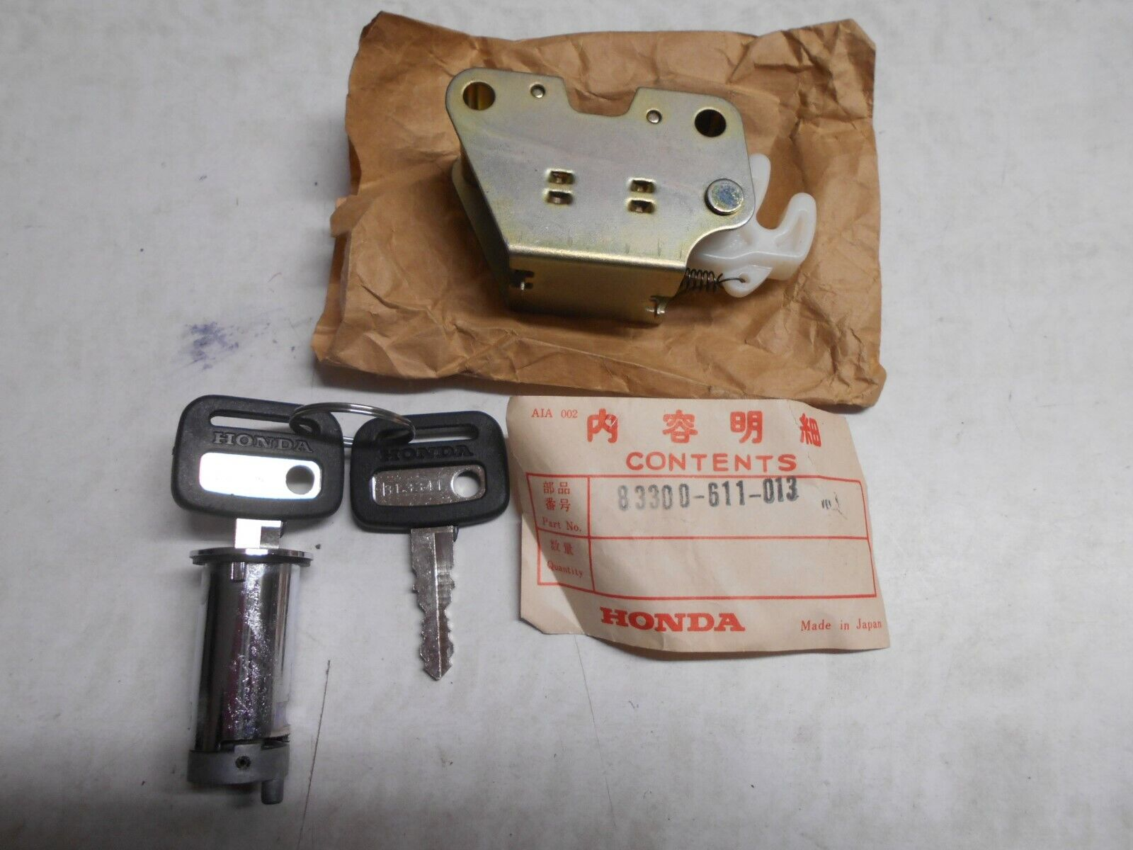 Car Parts - GENUINE HONDA CAR PARTS TRUNK LOCK ASSEMBLY N360K1 LIFE KT KU 83300-611-013