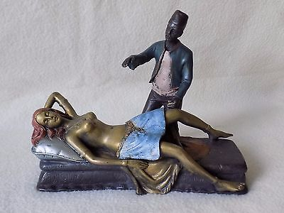 Bergman Cold Painted Bronze -   Magician and a Lady    Erotic