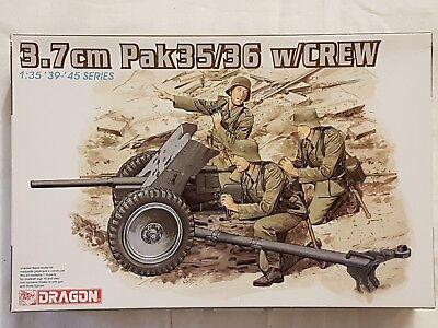 Dragon 6152 3,7cm Pak 35/36 w/Crew 1:35 Neu und eingetütet