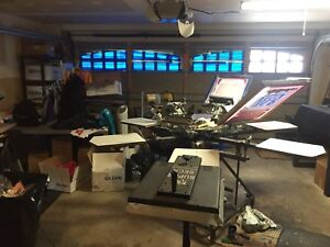 Screen printing tshirt business for sale