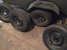 FORD RIMS & TYRES 14 inch ford XC XE XD XF etc steel rims x4 VG tyres Sunshine Brimbank Area Preview