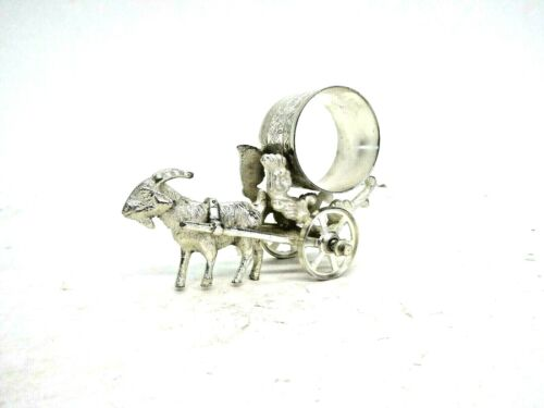 Figuaral  Silver-Plate Napkin Right Goat Pulling Cart
