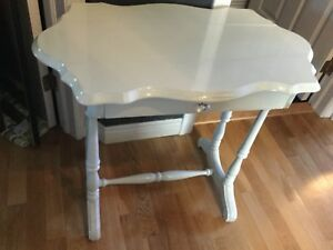 Country grey side table with drawer.
