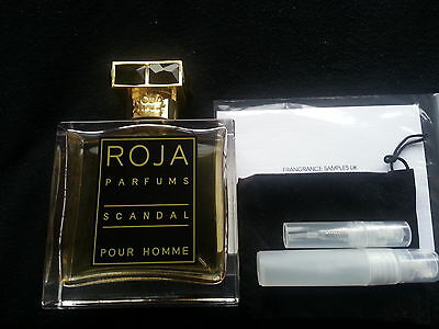 ROJA DOVE PARFUMS SCANDAL POUR HOMME EDP SCENTED CARD + FREE 1ML ...