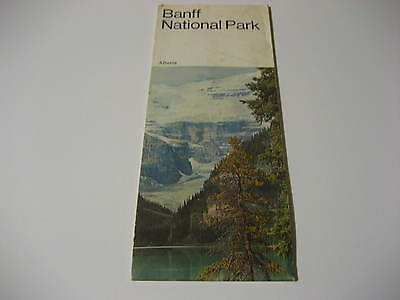 1971 Banff National Park Alberta Canada Brochure & Map